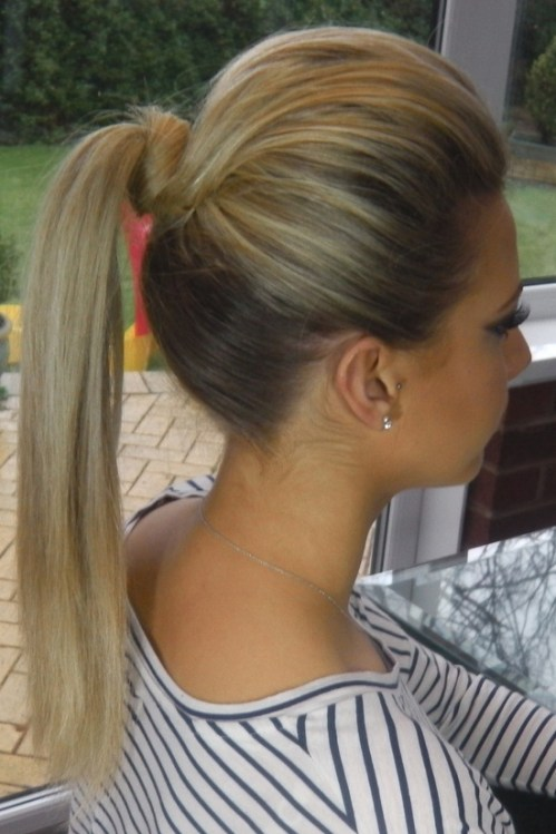 high volume ponytail