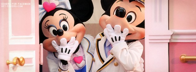 cute mickey and minnie fb cover