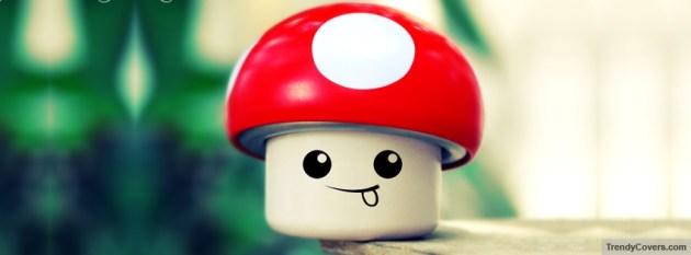 cute mushroom smile facebook photo