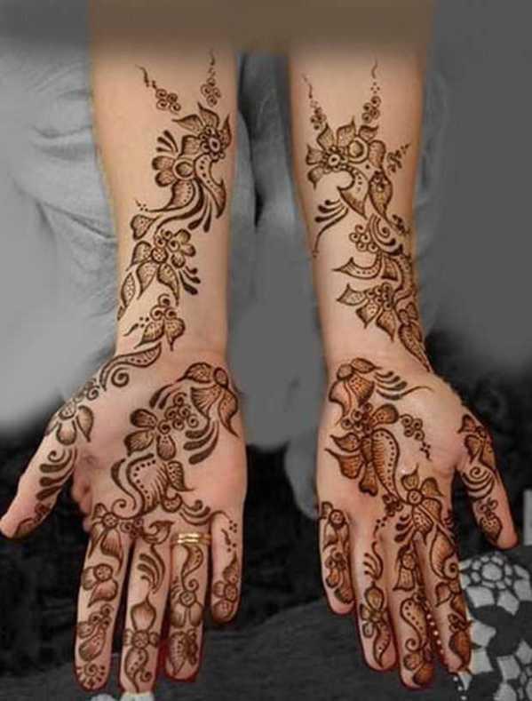 new simple arabic mehndi design for hands