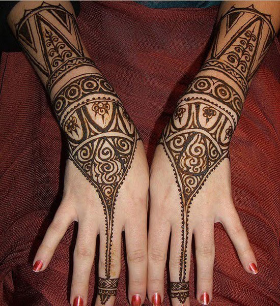 simple henna for hands