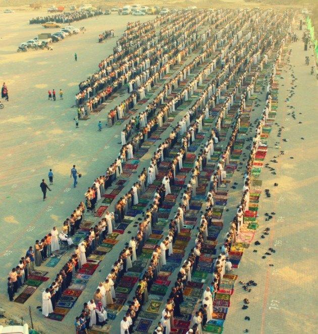 Eid al-Fitr Prayers in the Nuseirat Refugee Camp in Central Gaza Strip