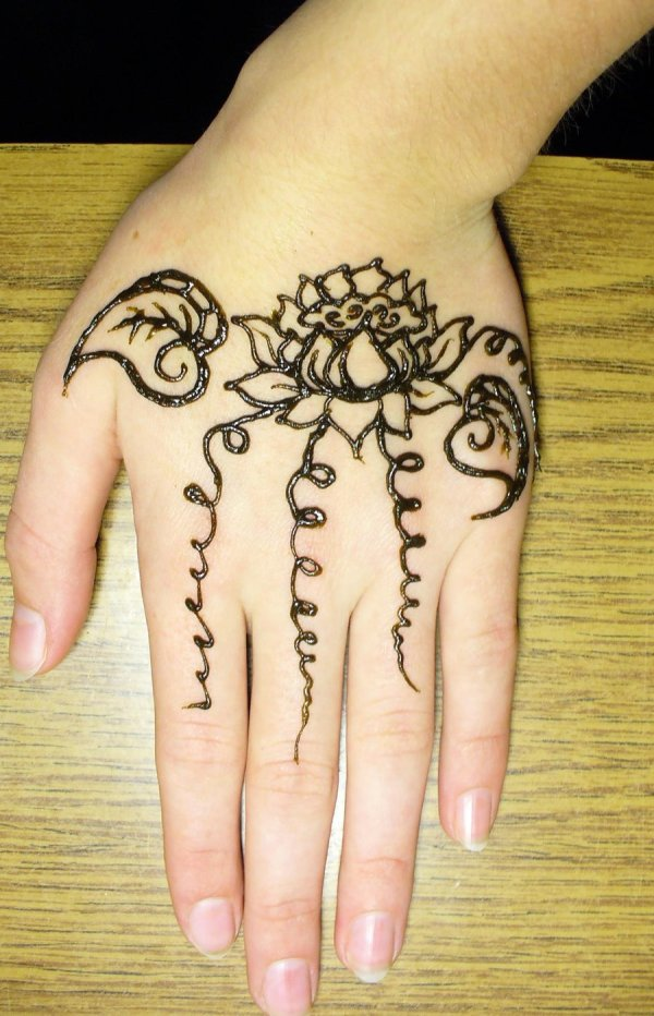 Mehndi design on hands