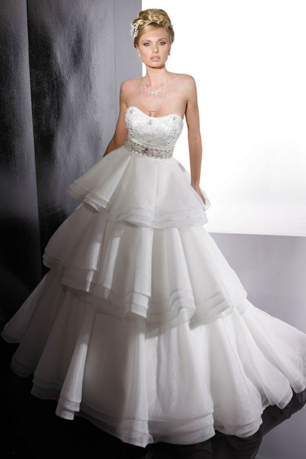 bridal empire strapless wedding dress