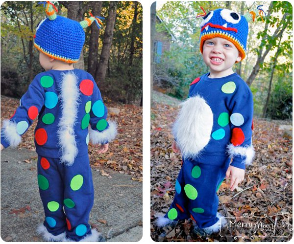 cheap diy toddler cute monster halloween costume