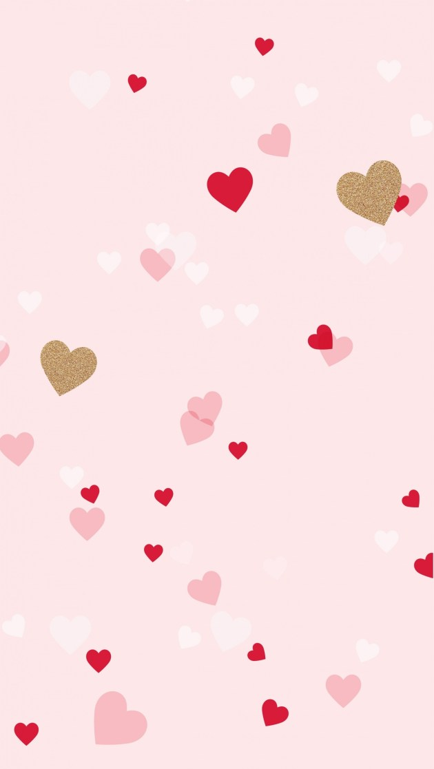 cute hearts iphone background image