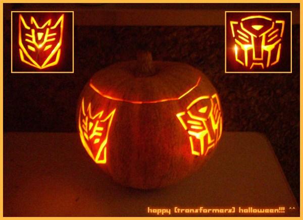 transformer halloween pumpkin