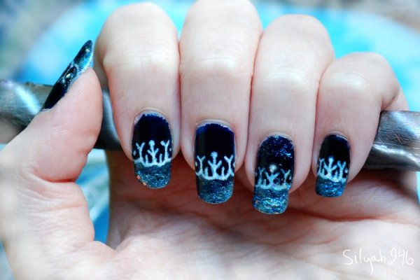 jack frost winter nail art