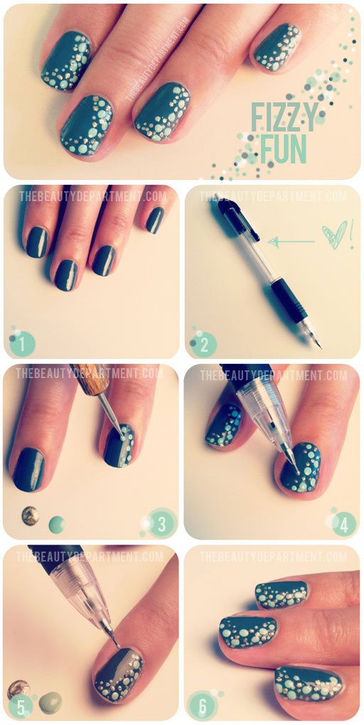 fizzy fun diy nails