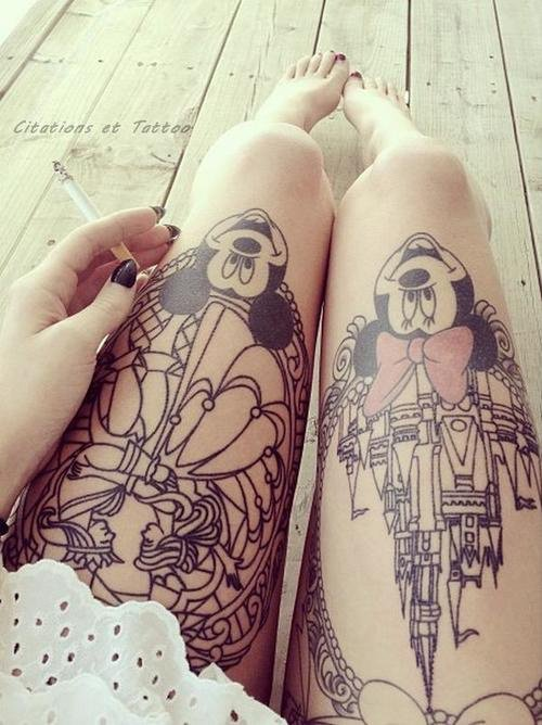 Cool-Mickey-&-Minnie-Mouse-Tattoos