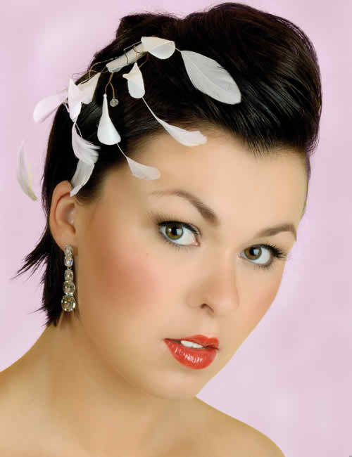 Wedding Hairstyle with Wedding Gloss