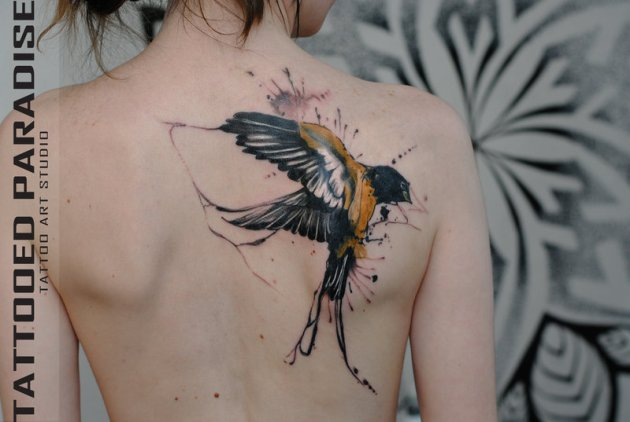 Swallow Bird Tattoo Design