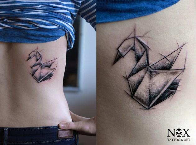 Swan Tattoo Sketch