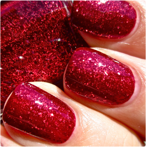 simple beautiful red nails