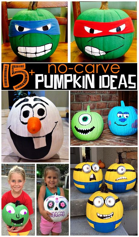 painted-cartoon-character-pumpkins-for-halloween