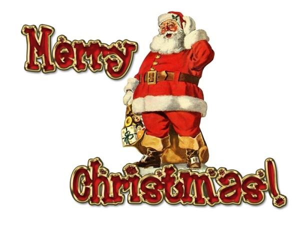 Merry Christmas Santa Claus Image