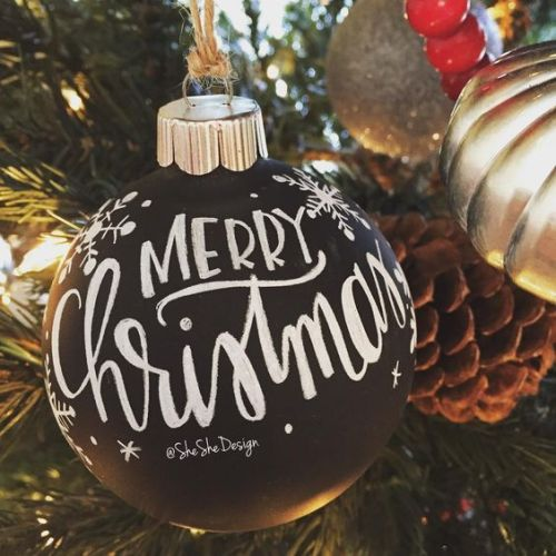 Merry Christmas Tree ornament photo