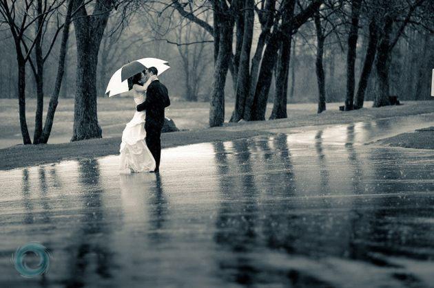 Wedding Romance In Rain