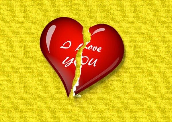 i love you broken heart