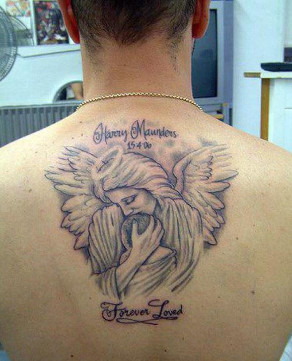 Angel RIP Tattoo