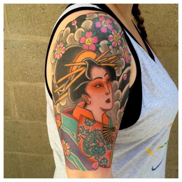 Girl Geisha tattoo