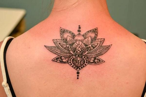 lotus floral tattoo design