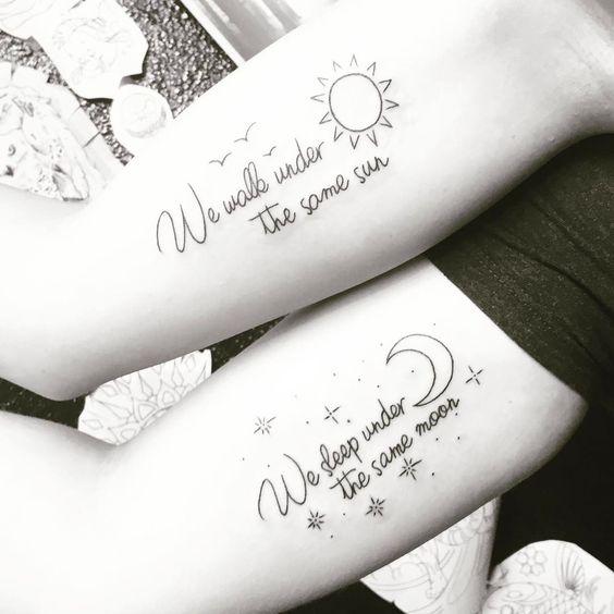 best friends quote tattoo designs