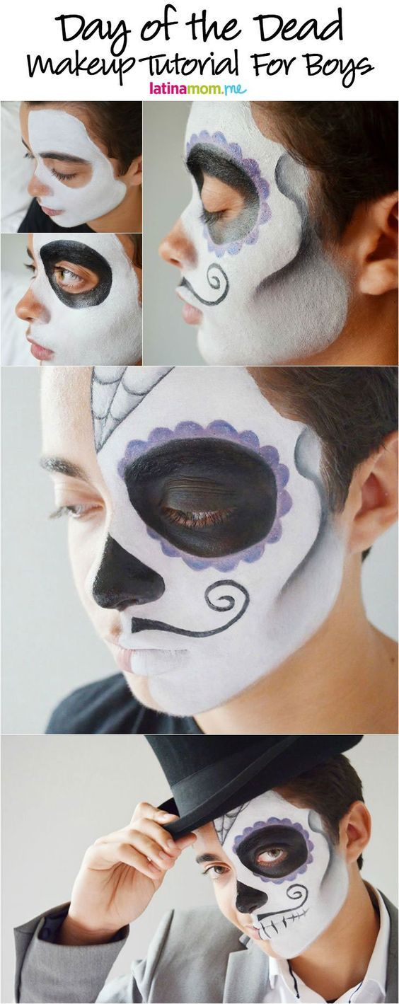 Gentleman face paint idea