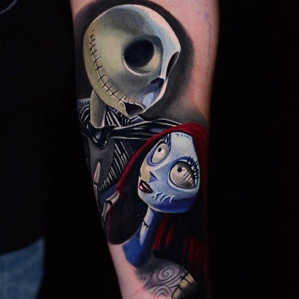 jack skellington and sally love tattoo
