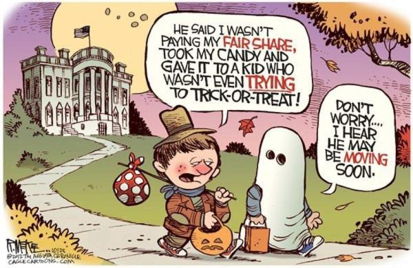 trying to trick or treat