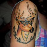 Christmas Reindeer tattoo design half sleeve