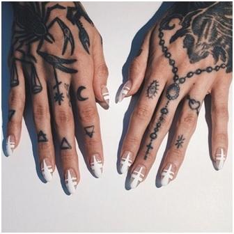Illuminati symbols rosary tattoo
