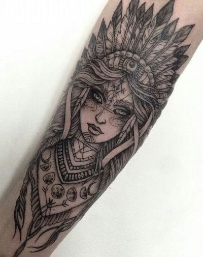 tribal women sleeve tattoo design