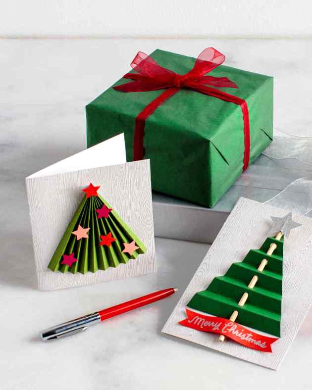 christmas tree card craft ideas for kids