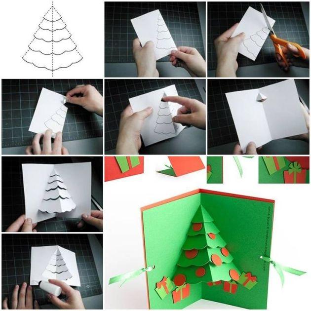 diy Christmas pop up card step by step