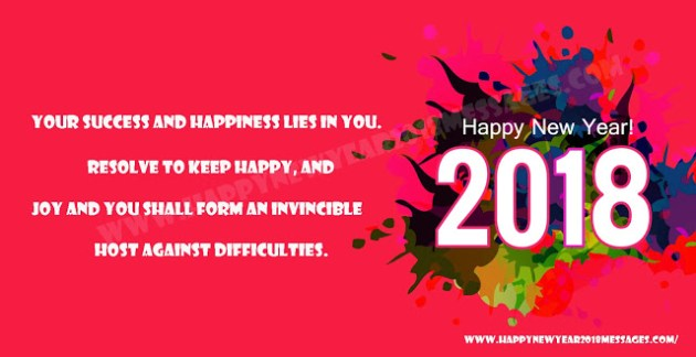 happy new year 2018 wishes Facebook photo