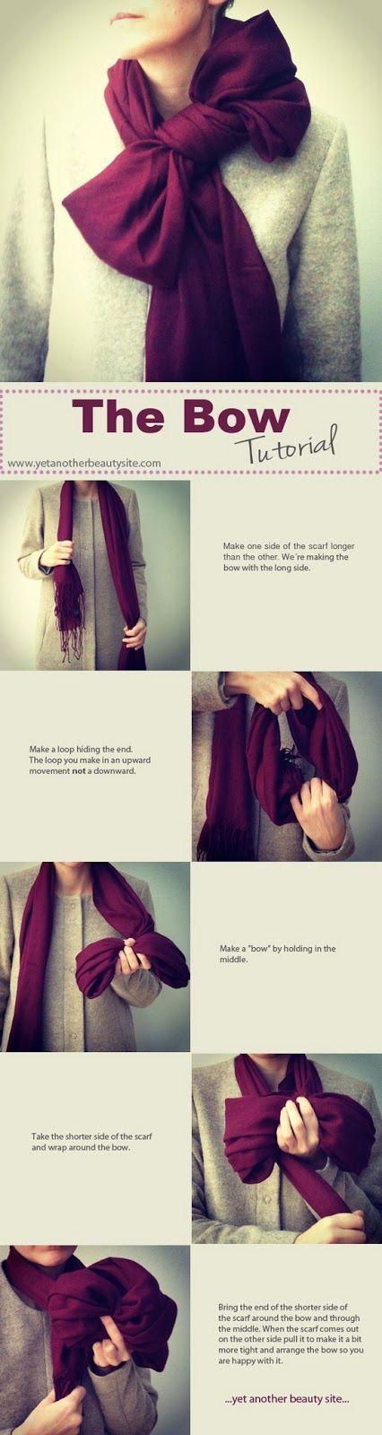 tie scarf into bow