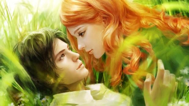 artistic painting hd romantic love couples wallpaper