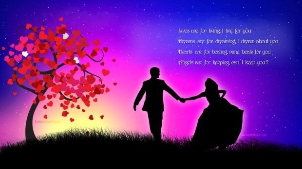 hd wallpapers of love couples with quotes