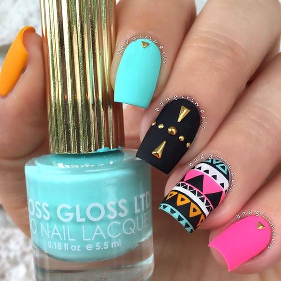 1 stud nail art design