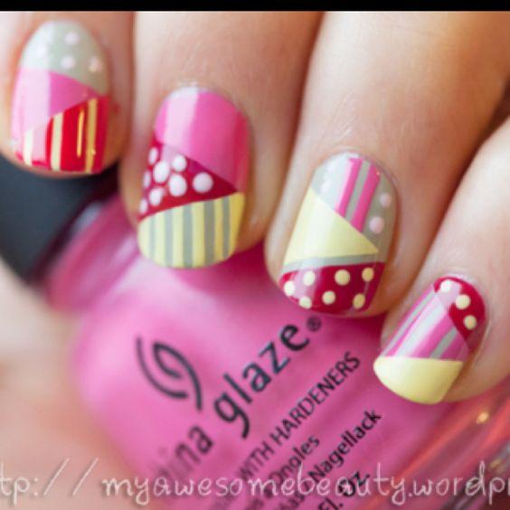 5 triangular nail design