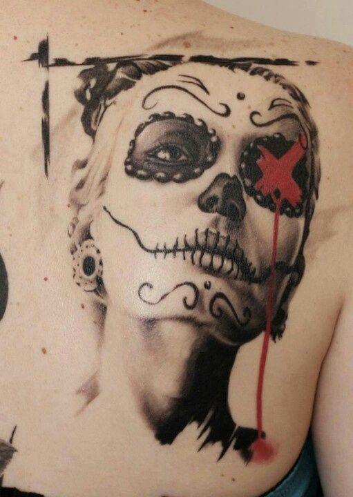 Trash Polka Skull tattoos for women