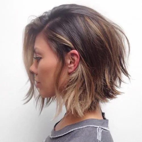 short choppy layered bob haircut