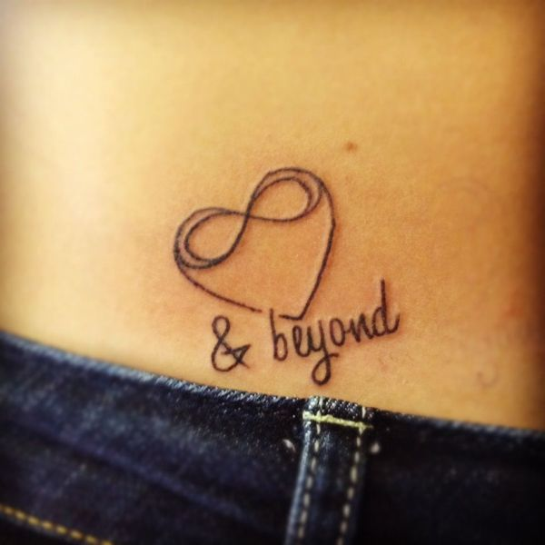 to infinity and beyond love tattoo