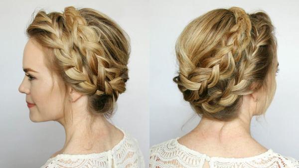 Milkmaid French Braid Pigtail Crown