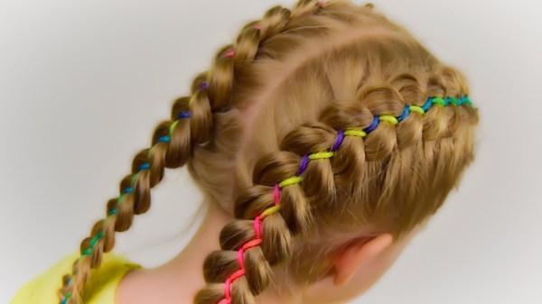 ribbons french braid