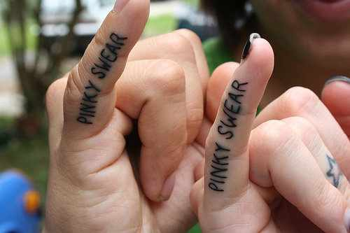 pinky finger promise tattoo for lovers