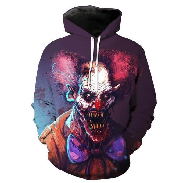 scary clown horror halloween hoodie