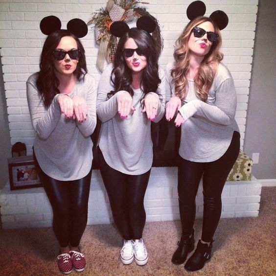 cute blind mice halloween costume ideas for college girls