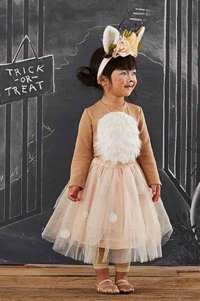 cute woodland deer toddler costume idea for halloween